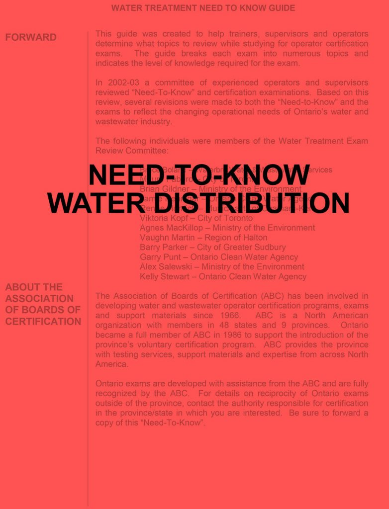 Need-to-know Water Distribution