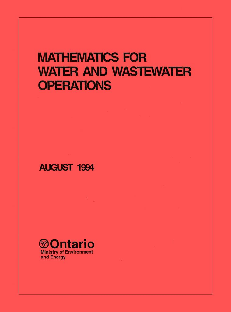 Mathematics for Water and Wastewater Operators